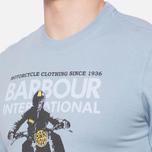 Мужская футболка Barbour Glendale Powder Blue фото- 5