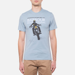Мужская футболка Barbour Glendale Powder Blue фото- 4