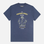 Barbour Guide Men's T-shirt Washed Navy photo- 0