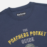 Barbour Guide Men's T-shirt Washed Navy photo- 1