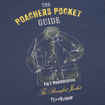 Barbour Guide Men's T-shirt Washed Navy photo- 2