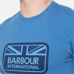 Мужская футболка Barbour Half Jack Marine Blue фото- 5