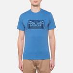 Мужская футболка Barbour Half Jack Marine Blue фото- 4