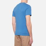 Мужская футболка Barbour Half Jack Marine Blue фото- 2