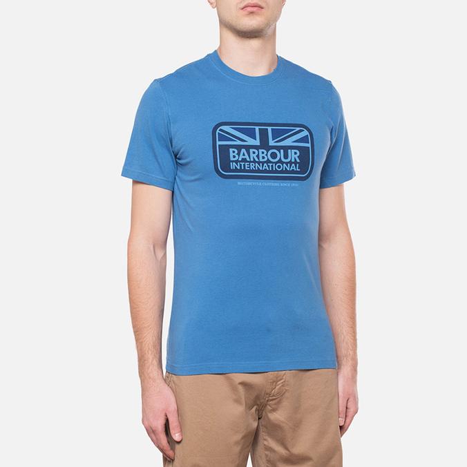 Мужская футболка Barbour Half Jack Marine Blue