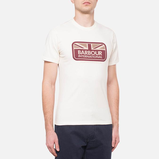 Мужская футболка Barbour Half Jack Neutral