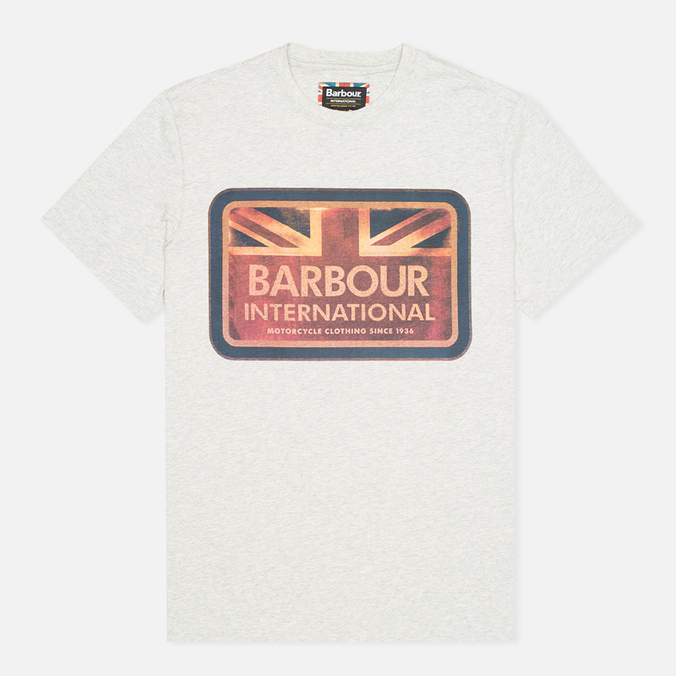 Мужская футболка Barbour International Antique Flag Grey Marl