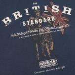 Мужская футболка Barbour International British Standard Navy фото- 2