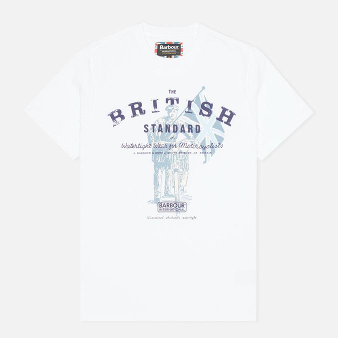 Мужская футболка Barbour International British Standard White