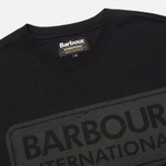 Мужская футболка Barbour International Logo Black фото- 1
