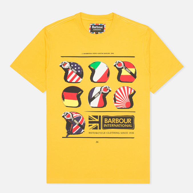 Мужская футболка Barbour International Nationality Mustard