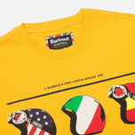 Мужская футболка Barbour International Nationality Mustard фото- 1