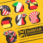 Мужская футболка Barbour International Nationality Mustard фото- 2