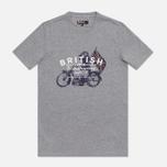 Мужская футболка Barbour Morton Storm Grey Marl фото- 0