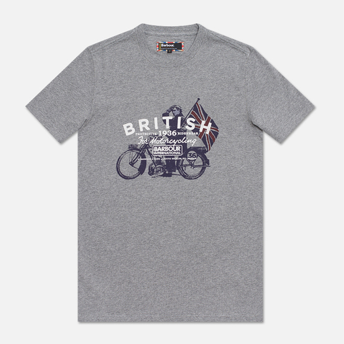 Мужская футболка Barbour Morton Storm Grey Marl