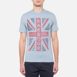 Мужская футболка Barbour Union Jack Powder Blue фото- 4