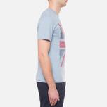 Мужская футболка Barbour Union Jack Powder Blue фото- 1