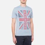 Мужская футболка Barbour Union Jack Powder Blue фото- 0