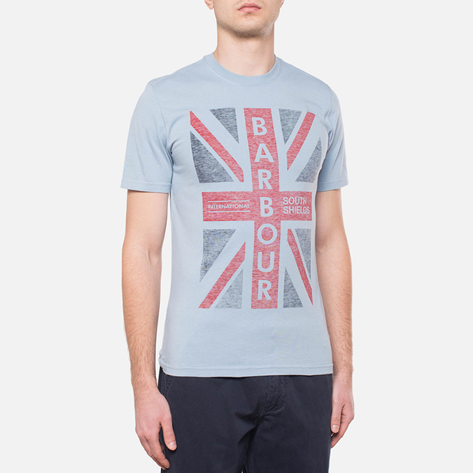 Barbour Union Jack Powder Blue