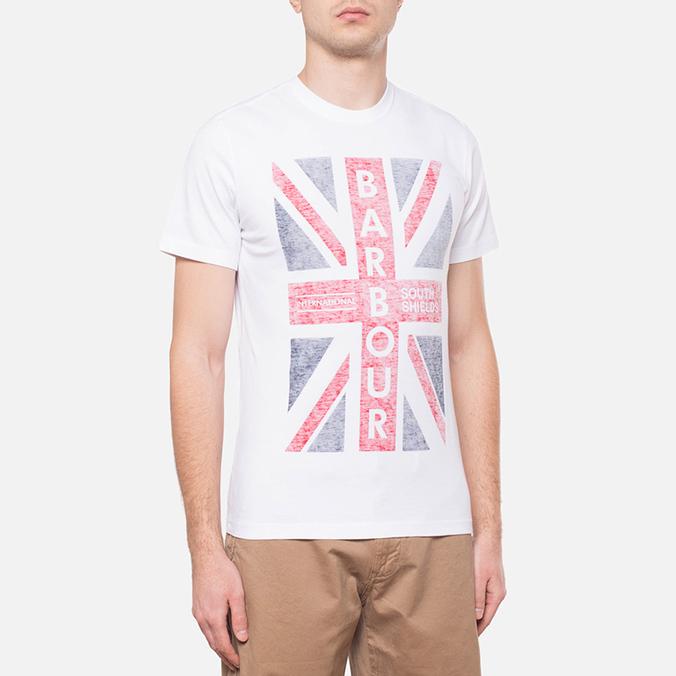 Barbour Union Jack White