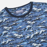 Мужская футболка Barbour x White Mountaineering Wave Tee Blue фото- 1