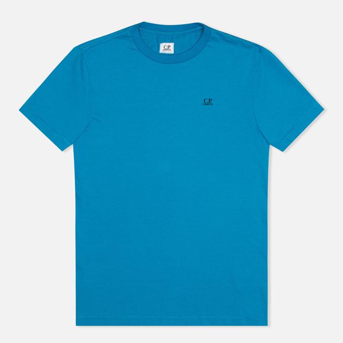 Мужская футболка C.P. Company Jersey Hood Print Blue