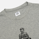 Мужская футболка C.P. Company Logo Sailor Print Grey фото- 1