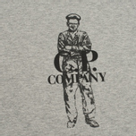 Мужская футболка C.P. Company Logo Sailor Print Grey фото- 2