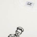 Мужская футболка C.P. Company Logo Sailor Print White фото- 3