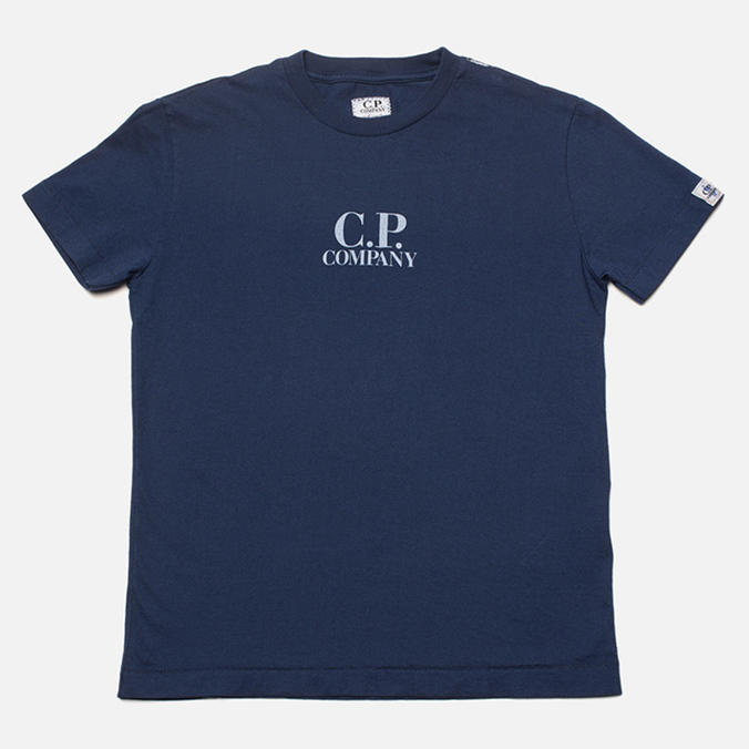 Детская футболка C.P. Company U16 Goggle Print Navy