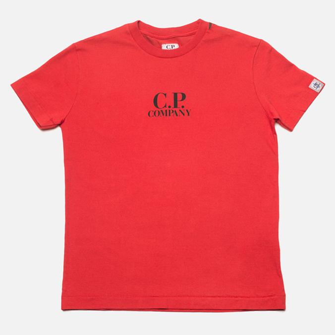 Детская футболка C.P. Company U16 Goggle Print Red