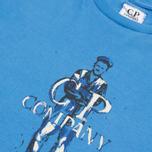 Детская футболка C.P. Company U16 Logo Print Blue фото- 1
