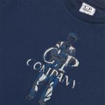 Детская футболка C.P. Company U16 Logo Print Navy фото- 1
