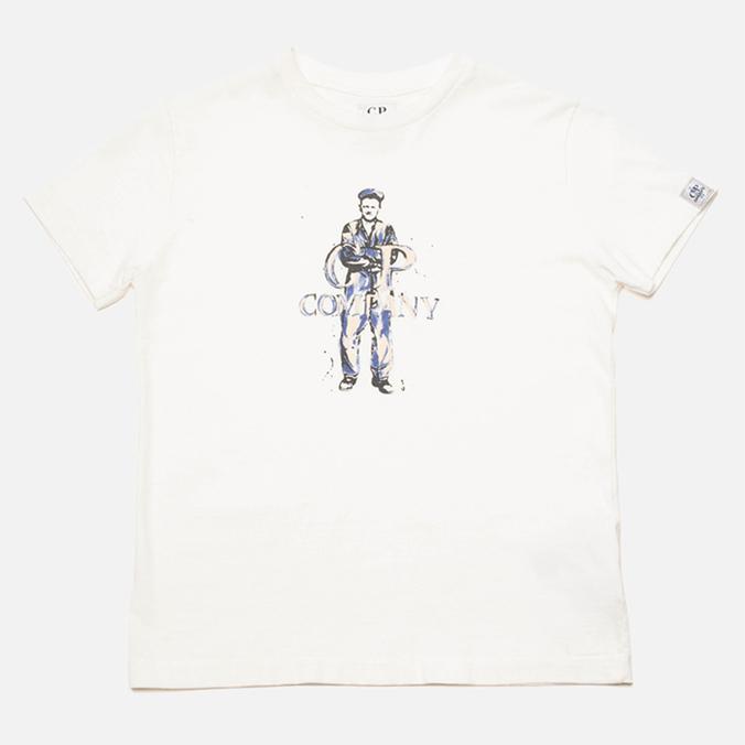Детская футболка C.P. Company U16 Logo Print White