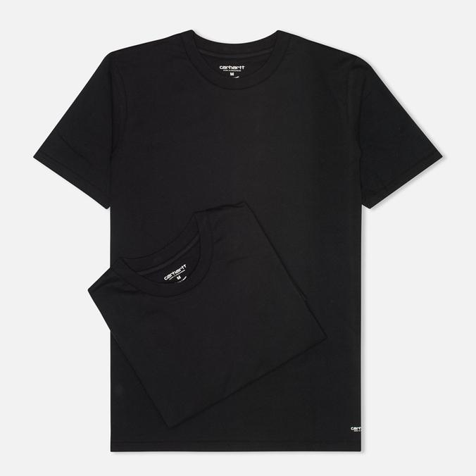 Комплект мужских футболок Carhartt WIP Standart Crew Neck Black (pack x2)