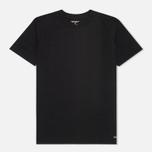 Комплект мужских футболок Carhartt WIP Standart Crew Neck Black (pack x2) фото- 2