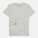Комплект мужских футболок Carhartt WIP Standart Crew Neck Grey Heather (pack x2) фото- 0
