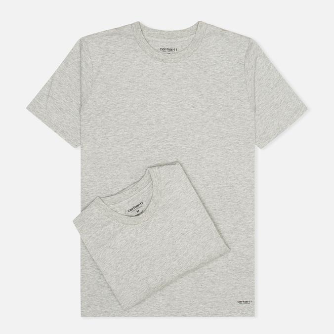Комплект мужских футболок Carhartt WIP Standart Crew Neck Grey Heather (pack x2)