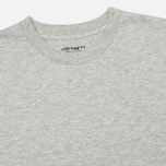 Комплект мужских футболок Carhartt WIP Standart Crew Neck Grey Heather (pack x2) фото- 1