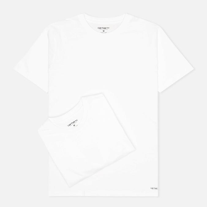 Комплект мужских футболок Carhartt WIP Standart Crew Neck White (pack x2)