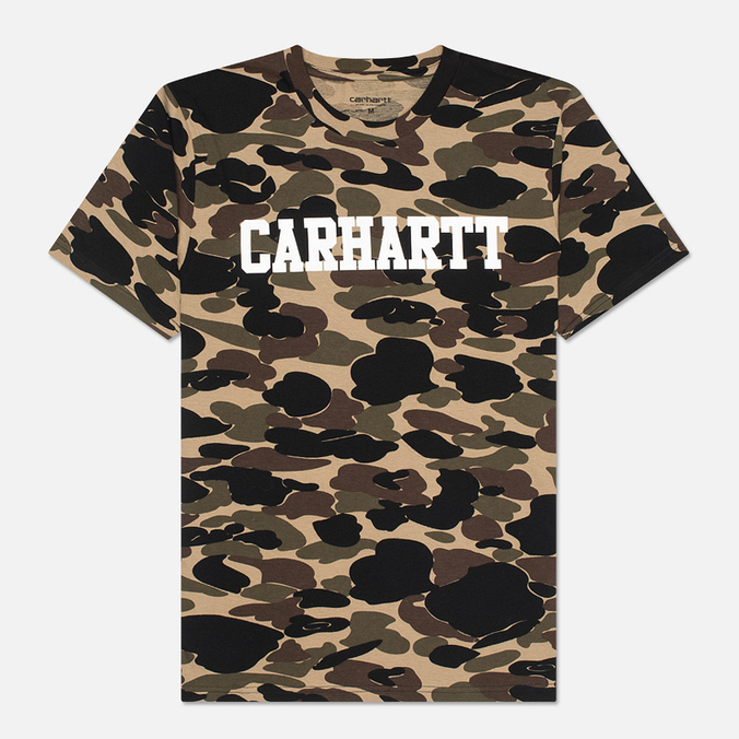 Мужская футболка Carhartt WIP College Allover Camo Isle/White