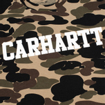 Мужская футболка Carhartt WIP College Allover Camo Isle/White фото- 2