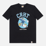 Мужская футболка Carhartt WIP Duck Down Black/Blue фото- 0
