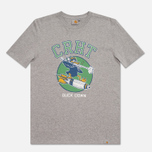 Мужская футболка Carhartt WIP Duck Down Grey Heather/Green фото- 0