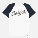 Мужская футболка Carhartt WIP League White/Duke Blue фото- 0