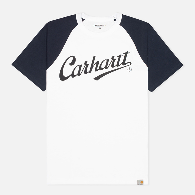 Мужская футболка Carhartt WIP League White/Duke Blue