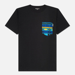Carhartt WIP Lester Pocket Men's T-shirt Black/African Print photo- 0