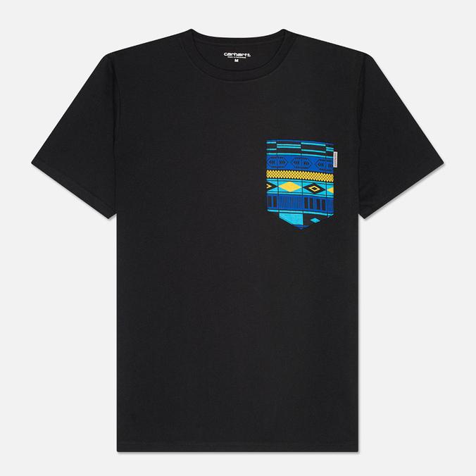 Carhartt WIP Lester Pocket Men's T-shirt Black/African Print