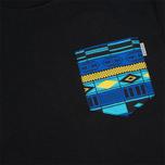 Carhartt WIP Lester Pocket Men's T-shirt Black/African Print photo- 2
