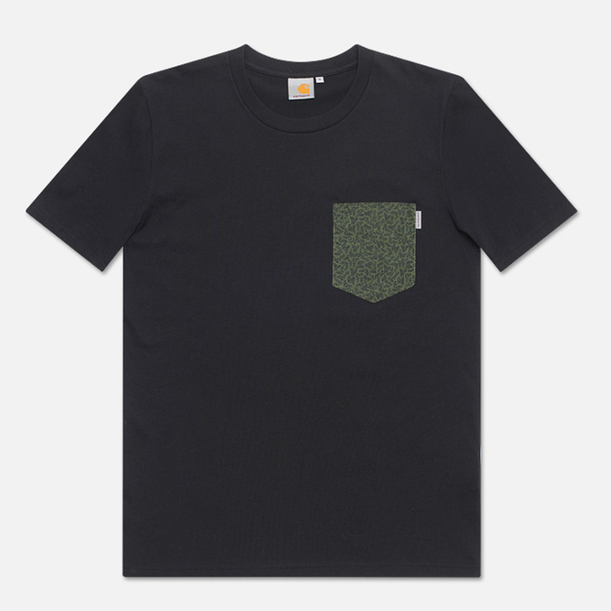 Мужская футболка Carhartt WIP Lester Pocket Black/Bough Lawn/Jet
